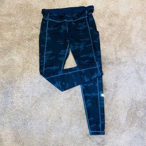 Blue Camo Lululemon Leggings - full length pant